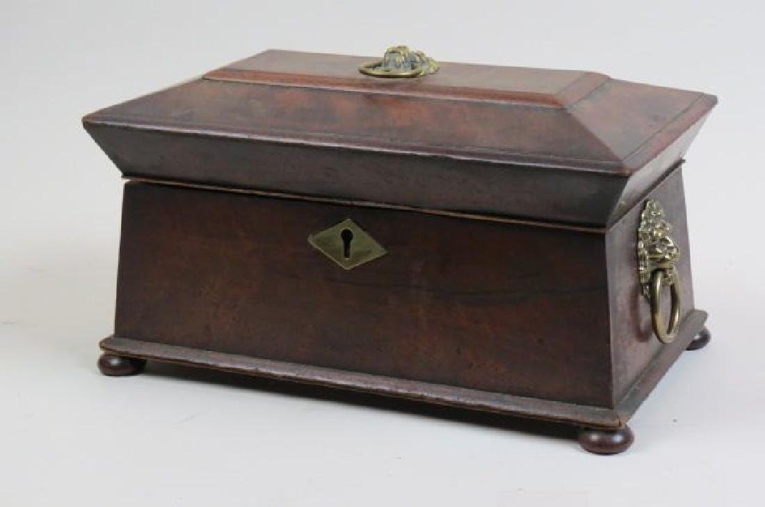 Regency Rosewood Tea Caddy Box,
