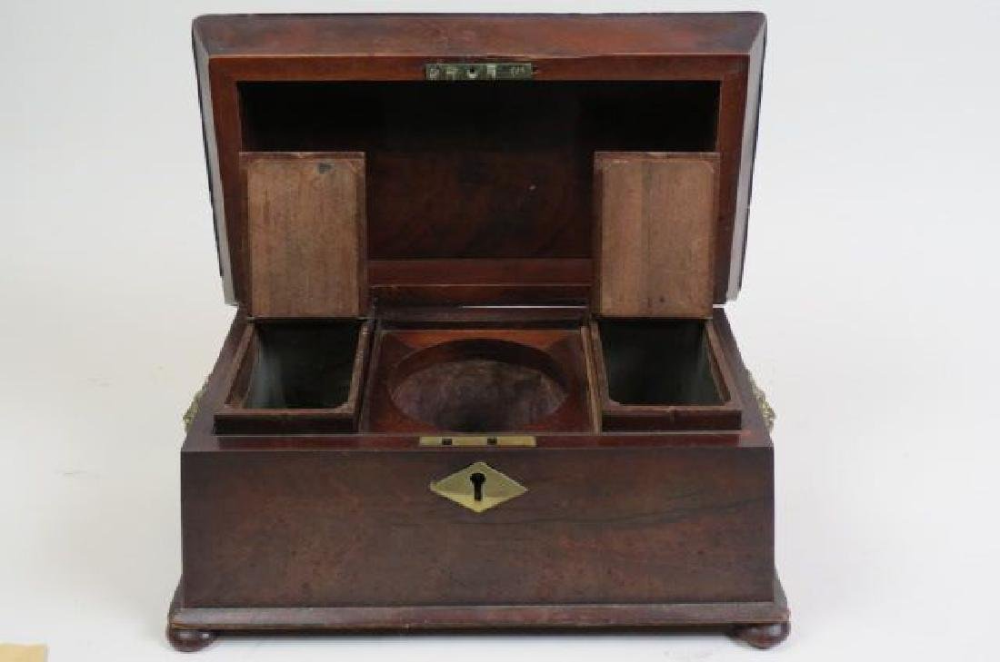 Regency Rosewood Tea Caddy Box, - 2