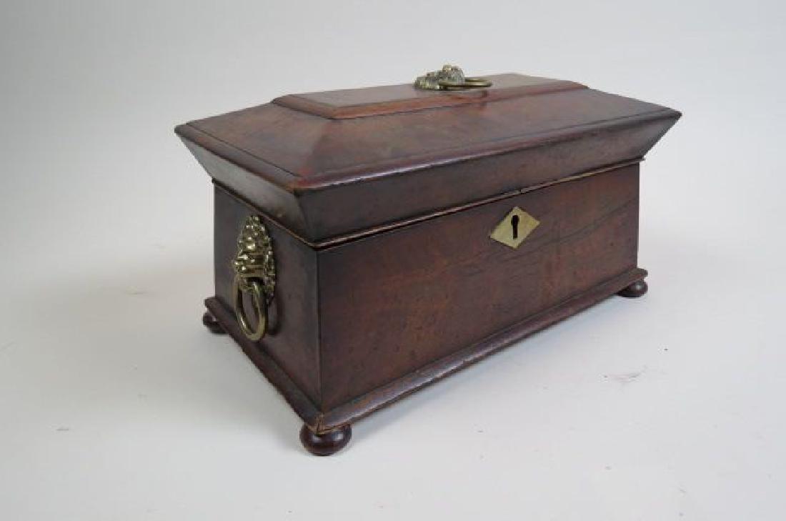 Regency Rosewood Tea Caddy Box, - 5