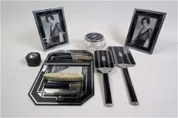 12 pc. Art Deco Vanity Set,