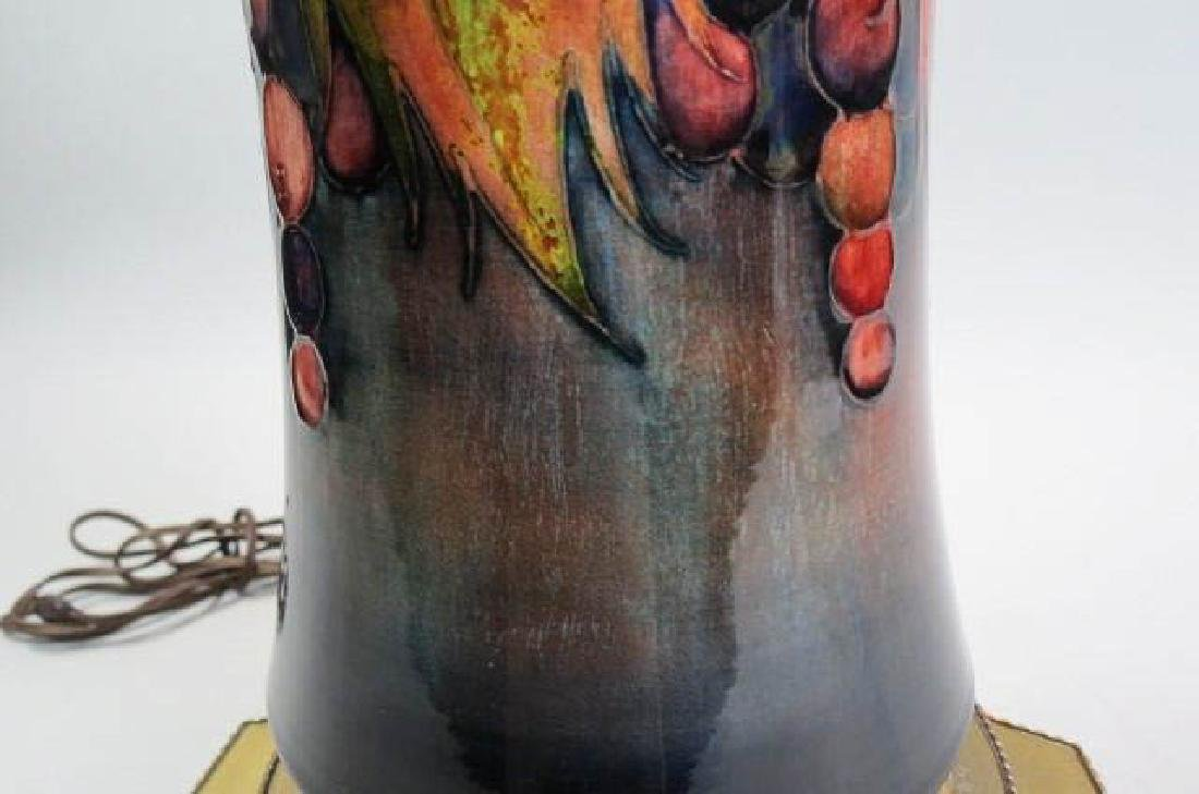 Moorcroft Art Pottery Lamp, - 4