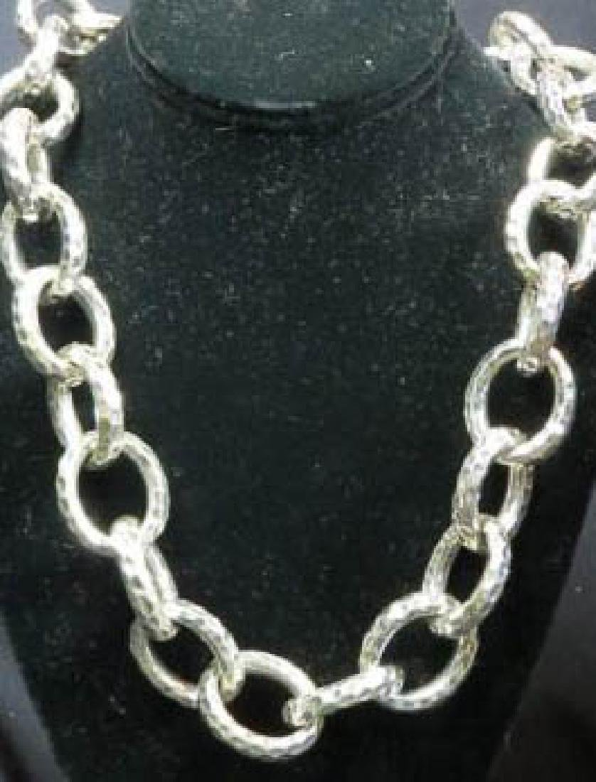 Sterling Silver Large Oval Link Necklace,