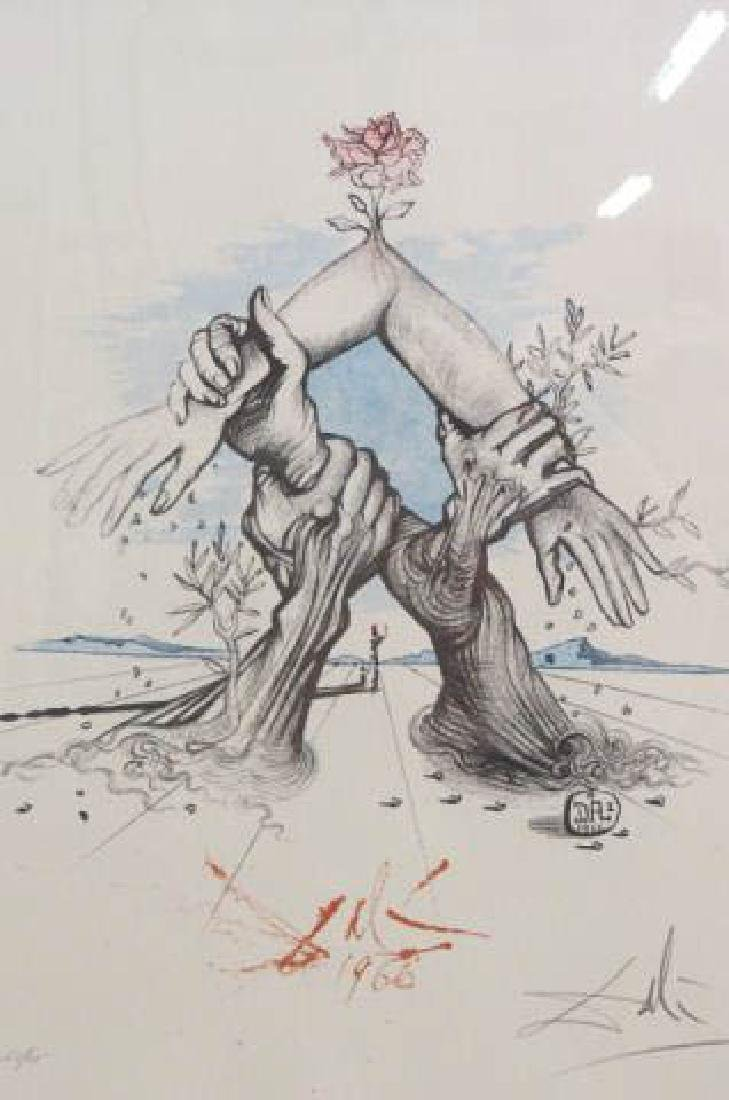 "Salvador Dali Print ""Five Continents with Nations"""