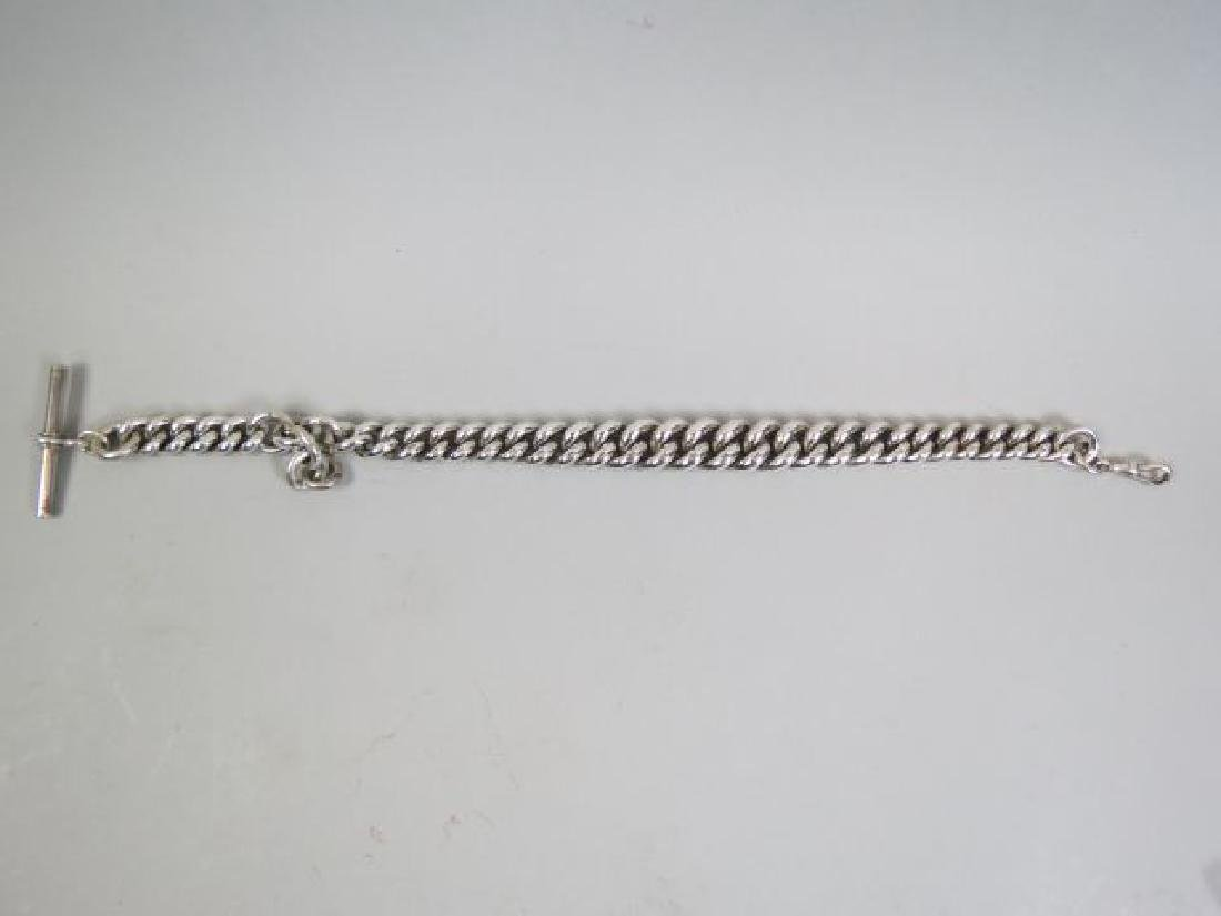 Massive English Sterling Silver Watch Chain,