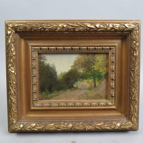 Theodore Fourmois, oil, landscape with figures,