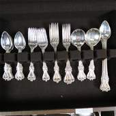 """63 pc Sterling Silver Flatware Set """"Old Colonial"""""""