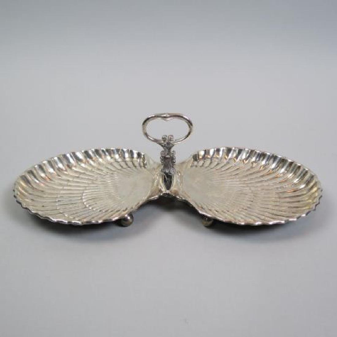 Gorham Sterling Silver Double Shell Serving Dish,