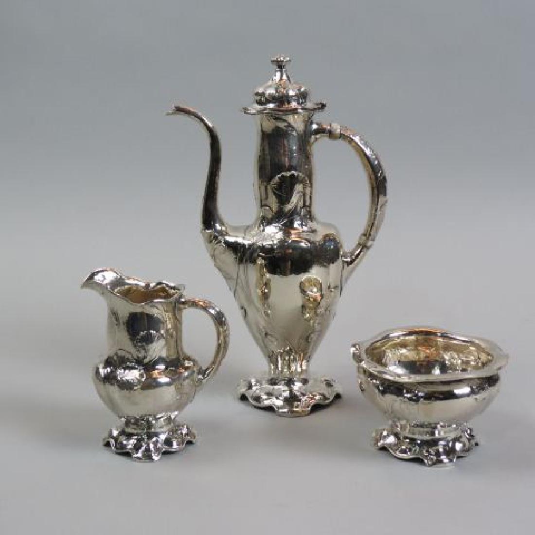 Rare Gorham Martele Sterling Coffee Set,
