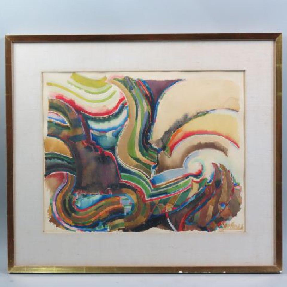 William Pachner Watercolor, Abstract,
