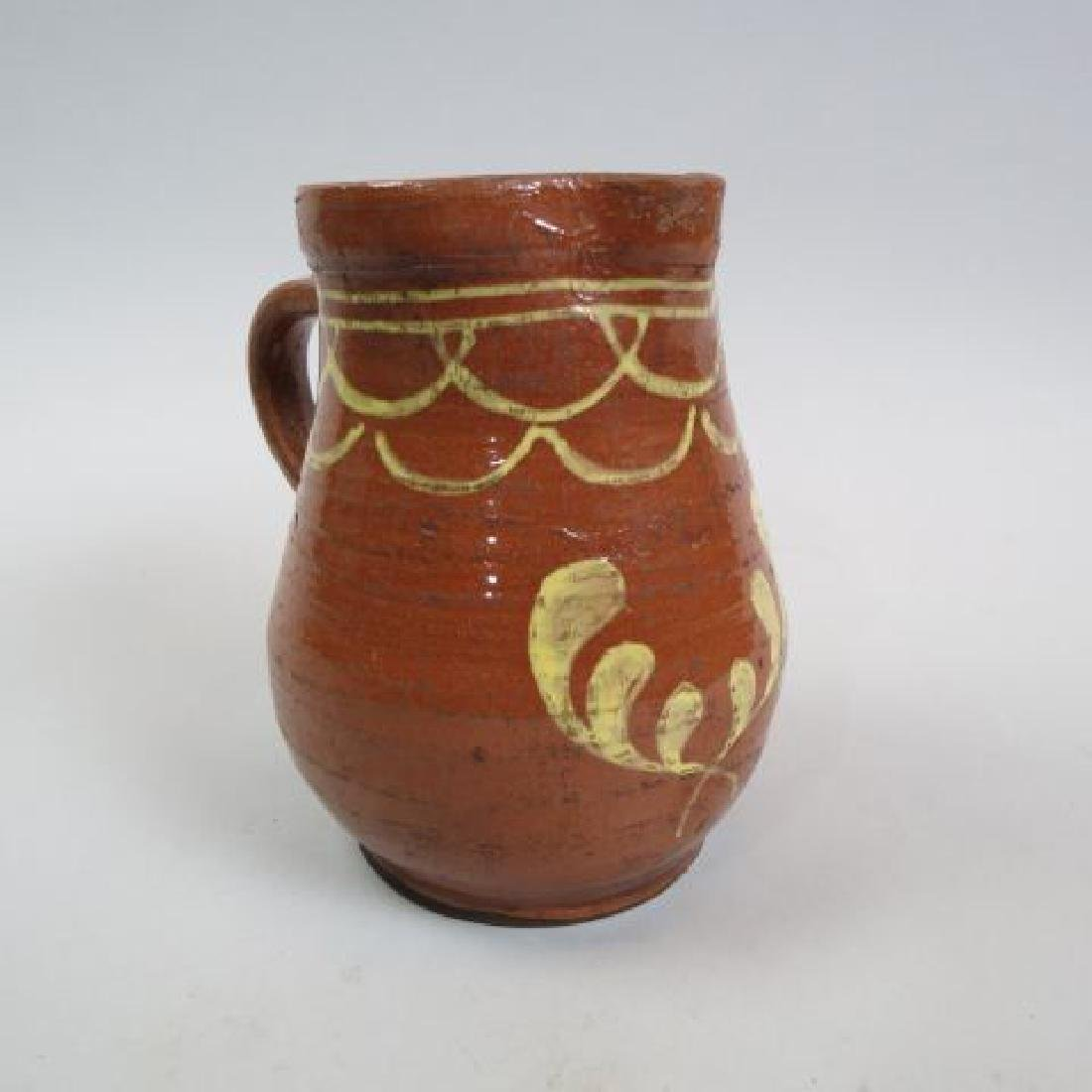 Early Pennsylvania Redware Pitcher,