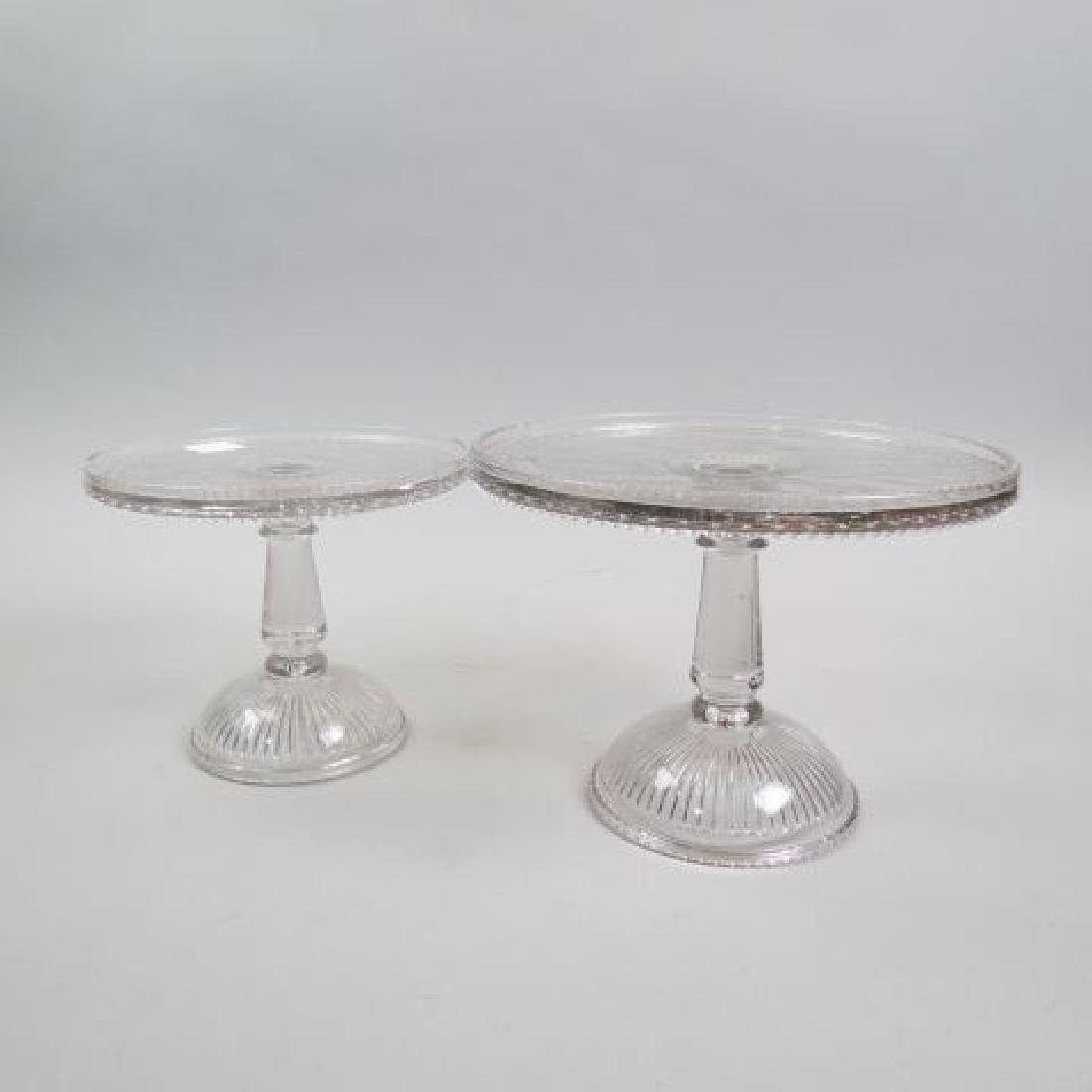 Two 19th Century Glass Cake or Dessert Stands,