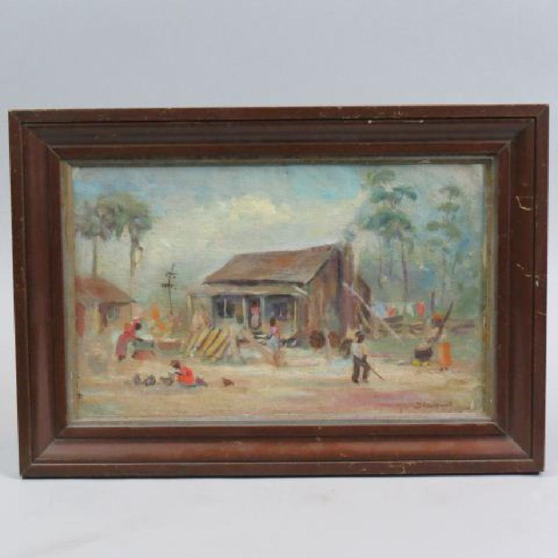 """Catherine Stockwell Oil """"Southern Black Homestead"""""""
