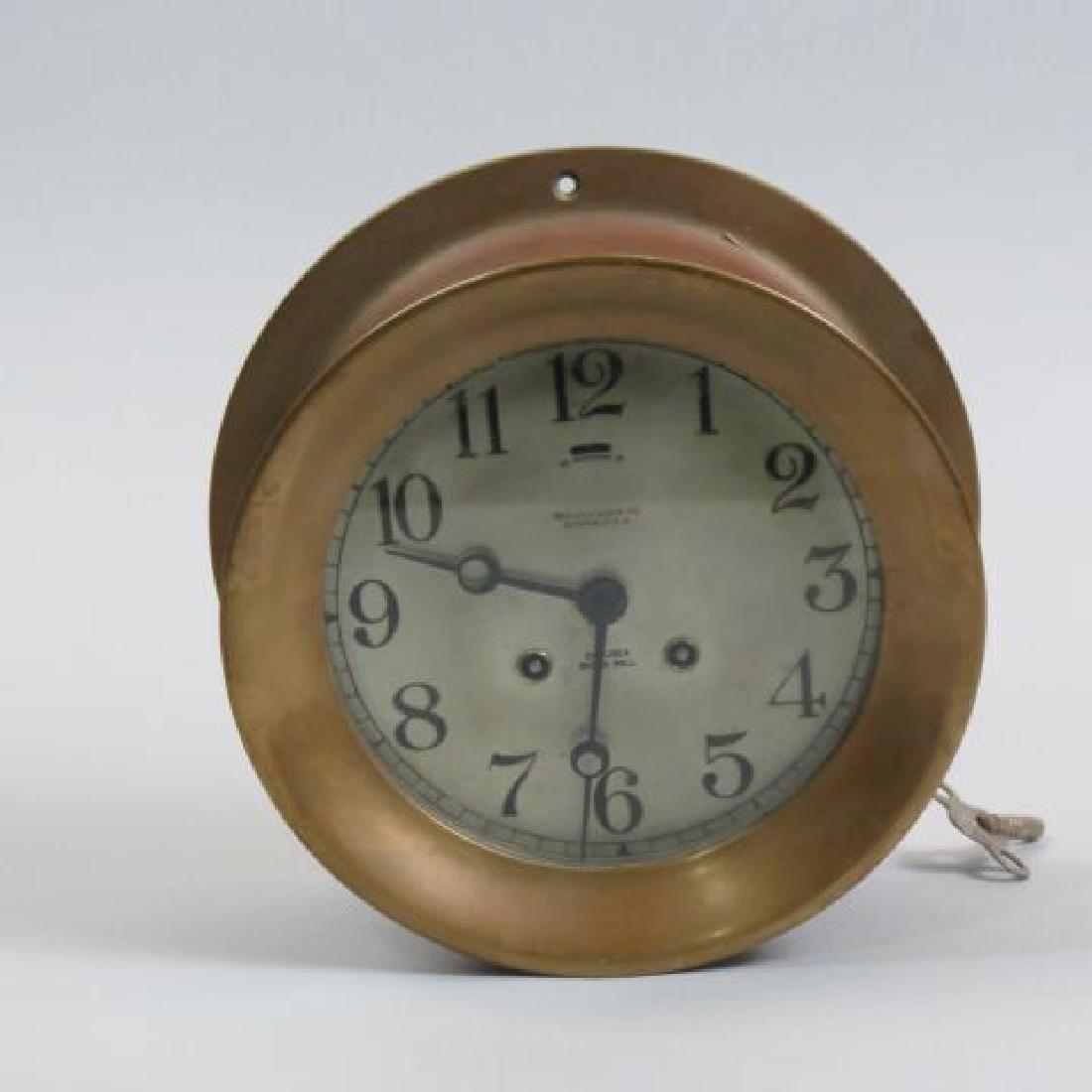 Chelsea Ship's Bell Clock,