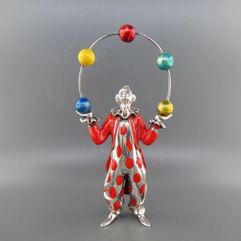 Tiffany & Co. Sterling & Enamel Circus Juggler,