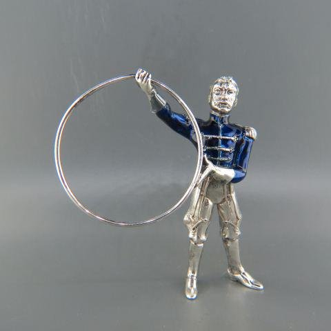 Tiffany & Co. Sterling & Enamel Circus Trainer,