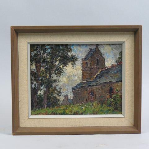 Victor Louis Cuguen, French Impressionist oil,