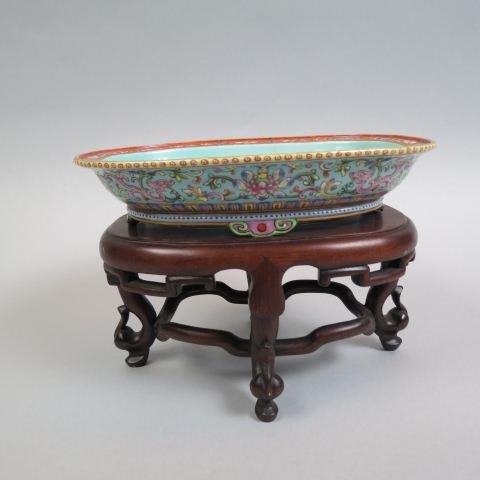 Chinese Famile Rose Porcelain Dish,