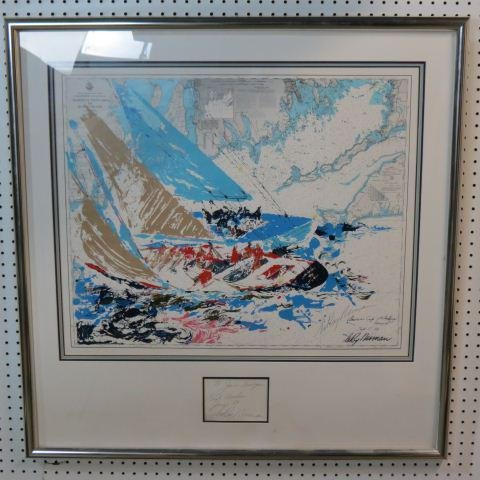 """Leroy Neiman, lithograph, """"America's Cup"""","""