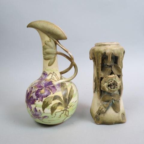 2 pcs. Teplitz Amphora Austrian Pottery,