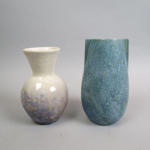 2 pcs. of Pottery; Arts & Crafts Vase,