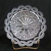 "Tuthill ""Orient"" Brilliant Period Cut Glass Dish,"