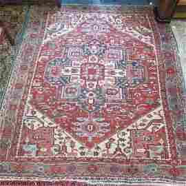 Antique Heriz Persian Handmade Room Size Rug,