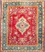 Antique Oushak Ushak Turkish 19th Century Rug Room Size