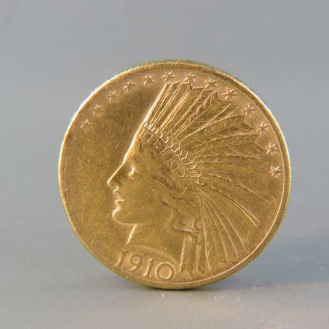 1910 U.S. $10.00 Indian Head Gold Coin,