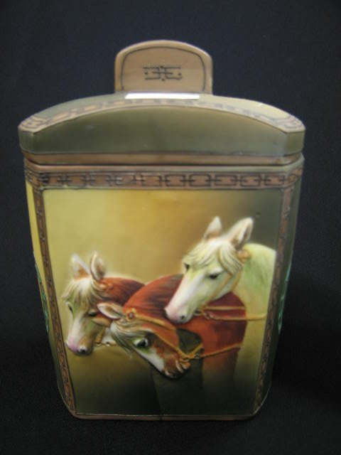 1: Nippon Blown-Out Porcelain Humidor or Tobacco Jar,