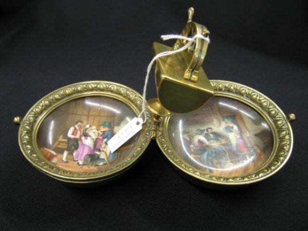 5: Victorian Cigar Smoking Travel Kit, brass box opens