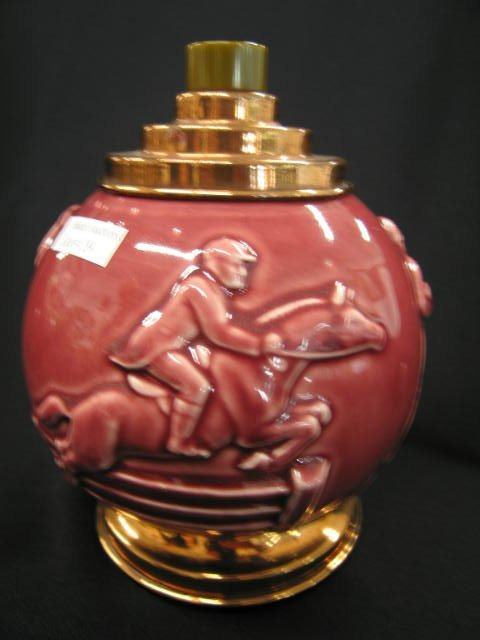19: Rookwood Art Pottery Cigarette Holder, golfer, fish