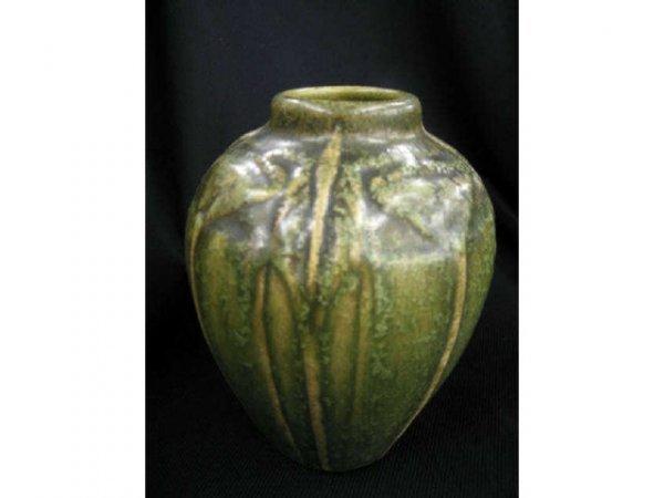 500: Early Van Briggle Art Pottery Vase, matte green