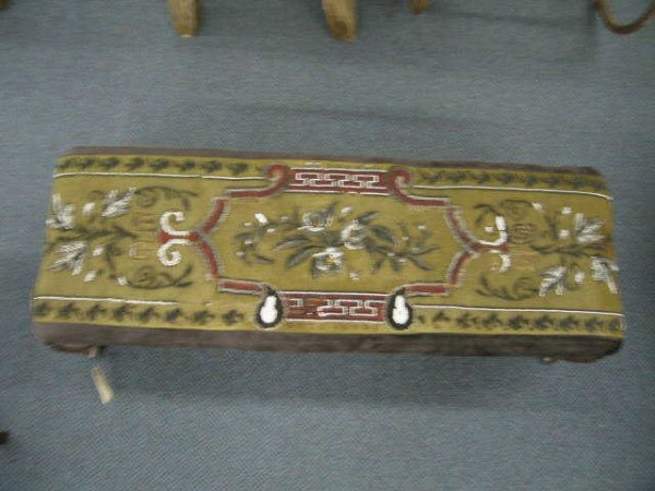515A: Victorian Bench, Chippendale legs, beaded top, 38
