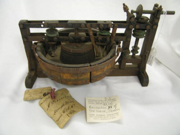 516: Patent Model, 1868, Dough Mixer, #82, 710, from Cl