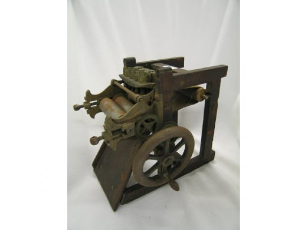 "519: Patent Model, 19th Century, printing press, 8 3/4"""