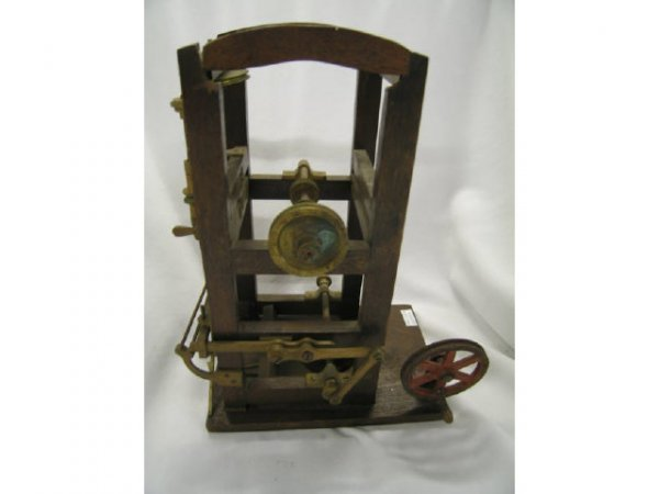 """520: Patent Model, Oil Rig Type, 19th Century, 12"""" tall"""