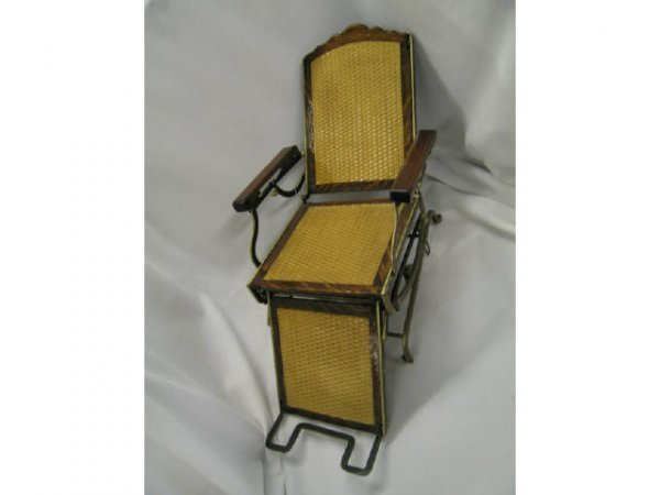 "521: Patent Model, reclining chair, refurbished, 13"" ta"