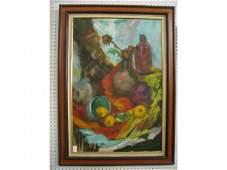 """742: Margaret Kelly Oil on Canvas, """"Gila Autumn"""" still"""