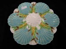 886A Minton Majolica Oyster Plate a superb Victorian