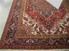 1215: Heriz Persian Handmade Room Size Rug, large cente