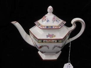 3: Minton Porcelain Teapot, floral garland, excellent.