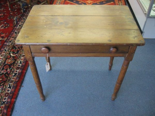"15: Victorian Table with Drawer, 28"" tall, 20"" x 30"" to"