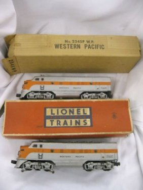 57: Lionel Western Pacific Twin Engines, #2345P-W.P and