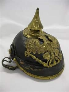 76C: German Spike Type Helmet, 19th Century.