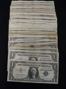 191B: 99 U.S. $1.00 Silver Certificate Notes, 1935 & 19