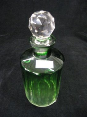 505: Baccarat Crystal Emerald-to-Clear Cologne Bottle,