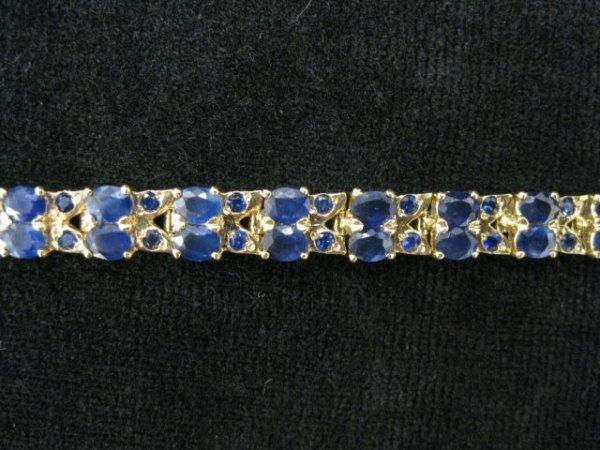511A: Sapphire Bracelet, round & oval rich blue gems to