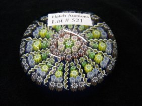 521: Perthshire Art Glass Paperweight, millefiori