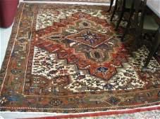 717: Heriz Persian Handmade Room Size Rug, large centra