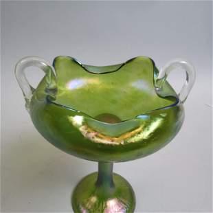 Loetz Austria Art Glass Compote,